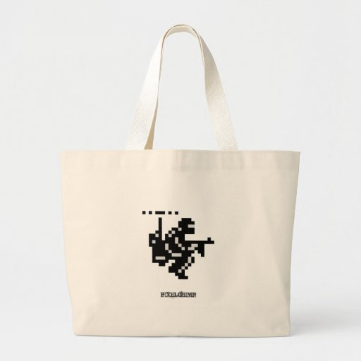 Pixel Hover Soldier Tote Bags