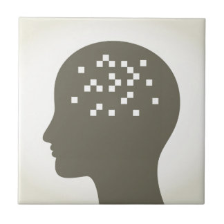 Pixel in a head ceramic tile