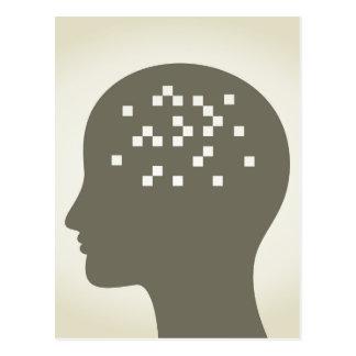 Pixel in a head postcard