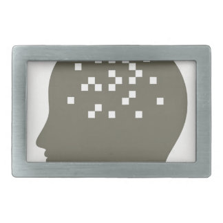 Pixel in a head rectangular belt buckle