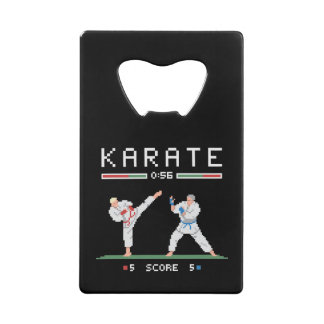 Pixel Karate Game Wallet Bottle Opener