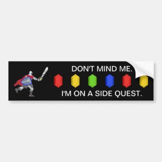 Pixel Knight Side Quest Bumper Sticker