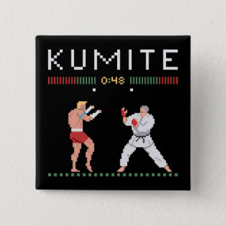 Pixel Kumite 2 Inch Square Button