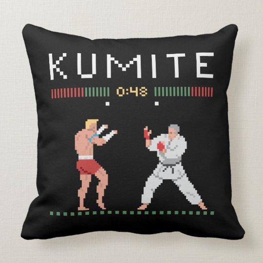 Pixel Kumite Throw Pillow