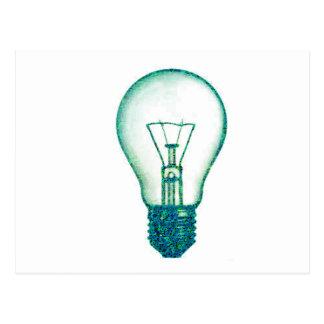 pixel lamp bulb postcard