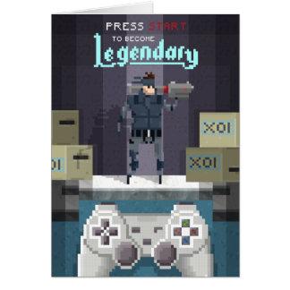 Pixel Legendary Dad Card