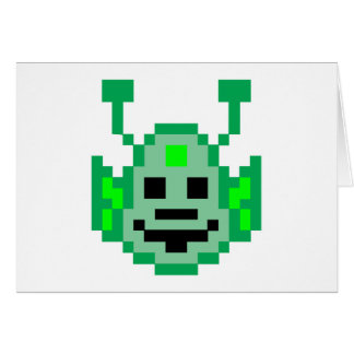 Pixel Martian Alien Card