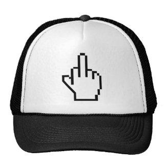 Pixel Middle Finger Trucker Hat