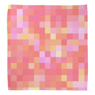 Pixel Multicolor Red/Pink/Yellow/Orange/Lavender Bandana