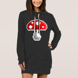 Pixel Mushroom Hoodie Dress (Dark)