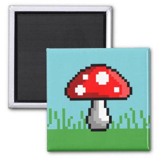 Pixel Mushroom Meadow Magnet