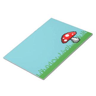 Pixel Mushroom Meadow Notepad