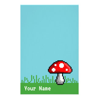 Pixel Mushroom Meadow Stationery