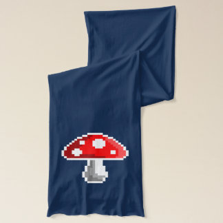 Pixel Mushroom Scarf (Dark)