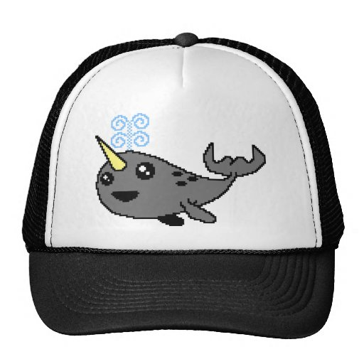 Pixel Narwhal Mesh Hats