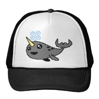 Pixel Narwhal Trucker Hat
