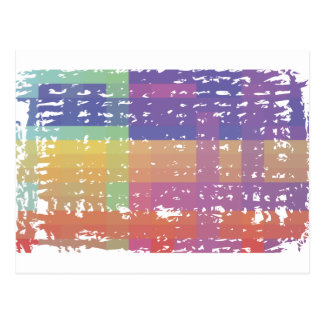 Pixel Nation Distressed Postcard