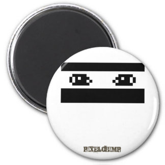 Pixel_Ninja 2 Inch Round Magnet
