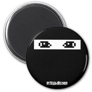 Pixel Ninja Dark Refrigerator Magnets
