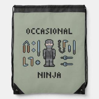 Pixel Occasional Ninja Cinch Bags