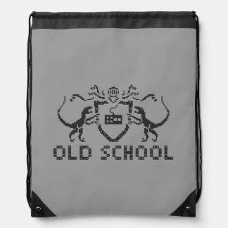 Pixel Old School Dinosaur Drawstring Backpack