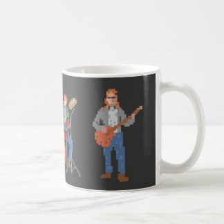 Pixel Old School Rock Band Coffee Mug