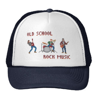 Pixel Old School Rock Music Trucker Hat