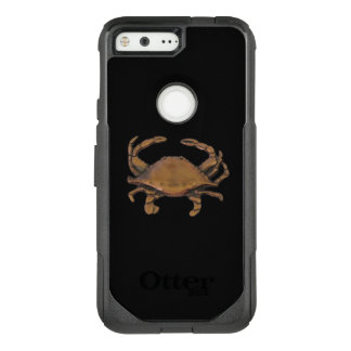 Pixel OtterBox Nautical Copper Crab on Black OtterBox Commuter Google Pixel Case