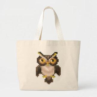 Pixel owl canvas bag