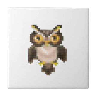 Pixel owl ceramic tiles