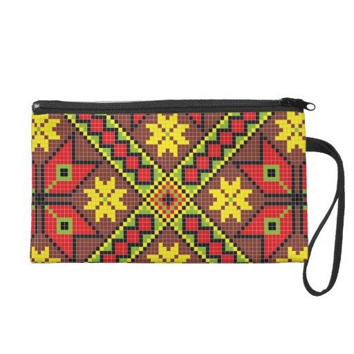 Pixel Pattern  Bagettes Bag Wristlet Purse
