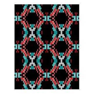 Pixel Pattern Postcard
