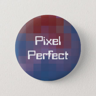 Pixel Perfect Pixelated 2 Inch Round Button
