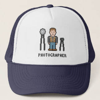 Pixel Photographer Trucker Hat