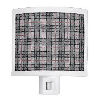 Pixel Plaid in Grey with Red Stripe Nite Lites