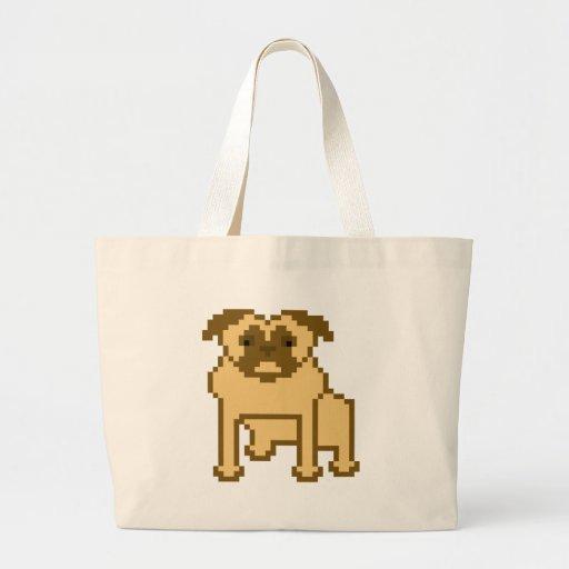 Pixel Pug Tote Bag