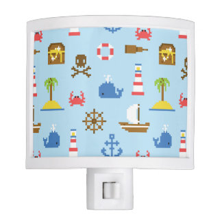 Pixel Sea Art Pattern Night Light