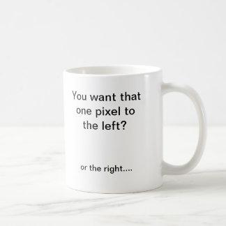 Pixel shifter coffee mug