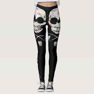 'Pixel Skull' Leggings