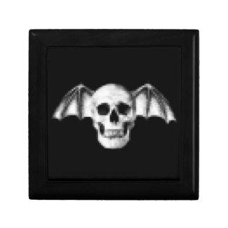 Pixel Skull with Bat Wings Gift Box