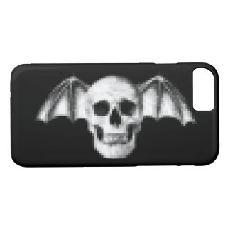 Pixel Skull with Bat Wings iPhone 8/7 Case