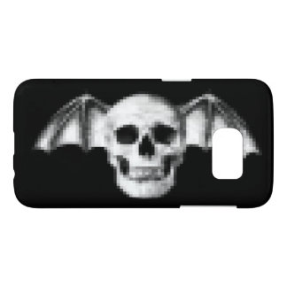 Pixel Skull with Bat Wings Samsung Galaxy S7 Case