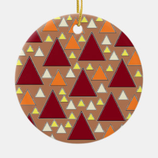 pixel snow topped fall mountain ranges ceramic ornament
