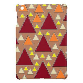 pixel snow topped fall mountain ranges iPad mini case