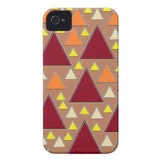pixel snow topped fall mountain ranges iPhone 4 Case-Mate case