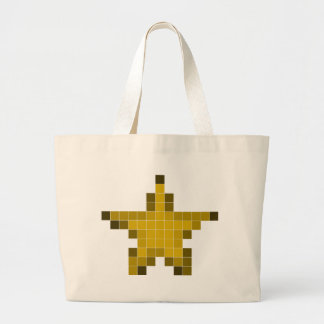 Pixel Star Canvas Bags