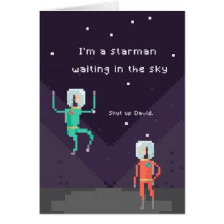 Pixel Starman Card