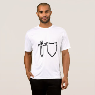 Pixel Sword and Shield Geeky Life Shirt
