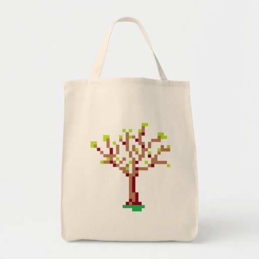 Pixel Tree Tote Bag