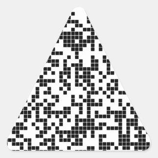 pixel triangle sticker